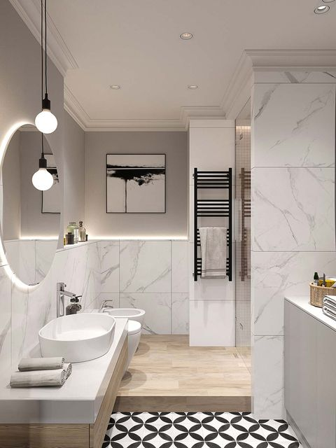 Bathroom, Room, Interior design, Property, Tile, Plumbing fixture, Ceiling, Floor, Tap, Furniture,