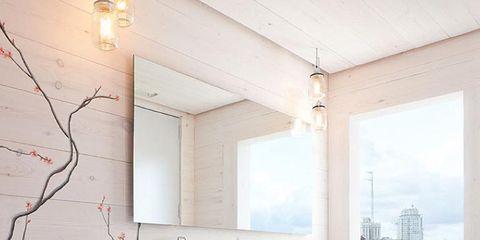 Plumbing fixture, Floor, Room, Architecture, Property, Interior design, Wall, Glass, Tap, Flooring,
