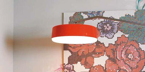 Interior design, Room, Interior design, Flowerpot, Linens, Peach, Decoration, Home accessories, Lampshade, Houseplant,