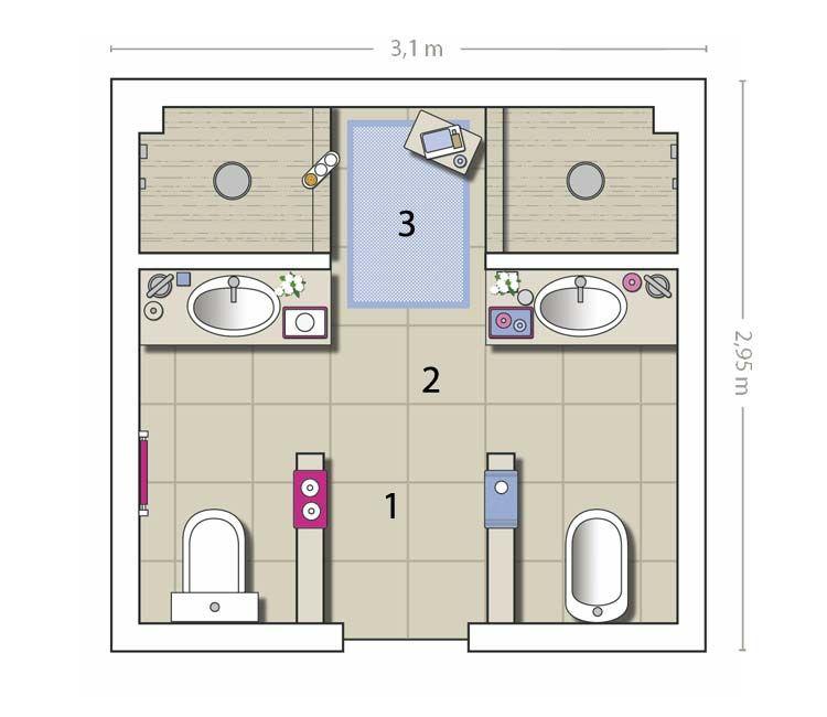 Cómo aprovechar un cuarto de baño de 9 m²