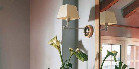 Room, Interior design, Wall, Interior design, Lamp, House, Lampshade, Countertop, Home, Plumbing fixture,