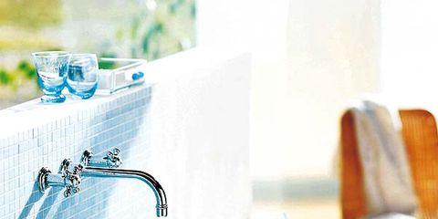 Blue, Bathroom, Turquoise, Aqua, Room, Sink, Azure, Interior design, Turquoise, Tile,