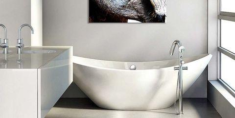 baño moderno con bañera exenta
