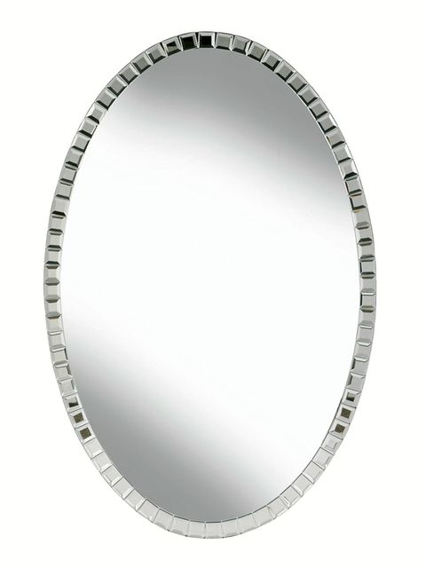 Mirror, Oval, Circle, Metal, Rim, Platter, Plate,