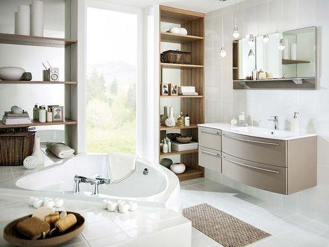 Un cuarto de baño para el relax