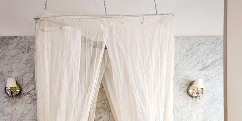 Curtain, Interior design, Shower curtain, Room, Window treatment, Textile, Pink, Window, Furniture, Floor,
