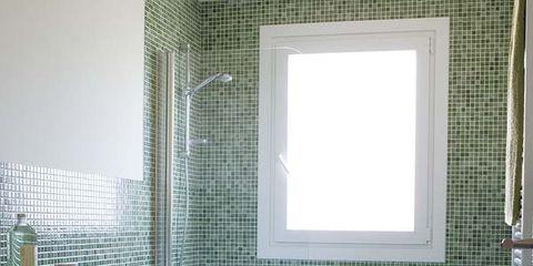 Un cuarto de baño en gresite