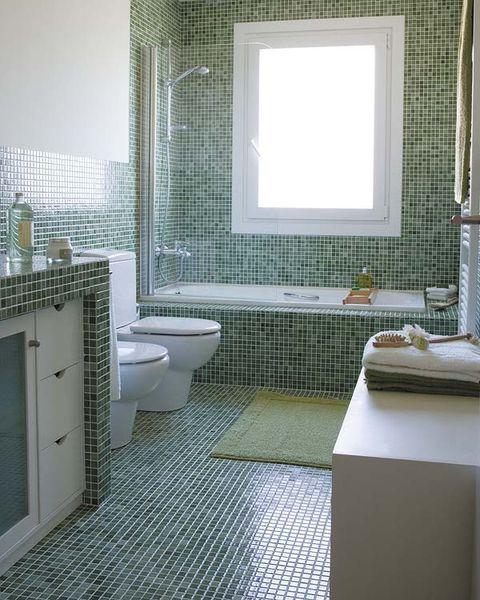 10 estupendas combinaciones de azulejos de baño