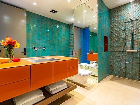 Cuarto de baño de colores