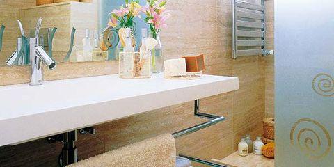 Bathroom, Room, Property, Interior design, Tile, Sink, Floor, Wall, Furniture, Building,