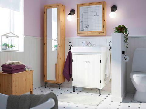 Room, Floor, Lighting, Flooring, Plumbing fixture, Interior design, Property, Bathroom cabinet, Bathroom sink, Wall,