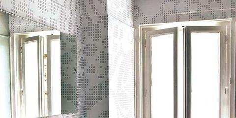 Room, Interior design, Floor, Property, Architecture, Wall, Flooring, Bathroom sink, Ceiling, Tile,