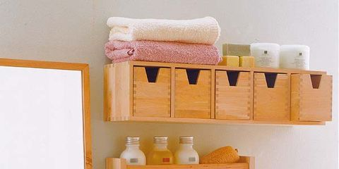 Room, Yellow, Pink, Interior design, Wall, Interior design, Bouquet, Shelving, Peach, Linens,