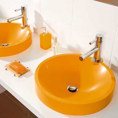 Plumbing fixture, Bathroom sink, Fluid, Property, Orange, Wall, Room, Tap, Sink, Liquid,