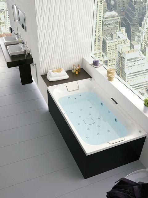 Property, Architecture, Floor, Flooring, Interior design, Plumbing fixture, Tile, Bathtub, Jacuzzi, Bathtub accessory,