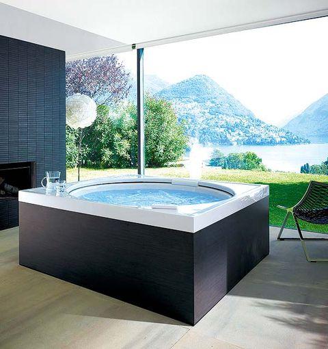 Interior design, Mountain range, Outdoor furniture, Rectangle, Composite material, Design, Tile, Bathtub, Decoration, Daylighting,