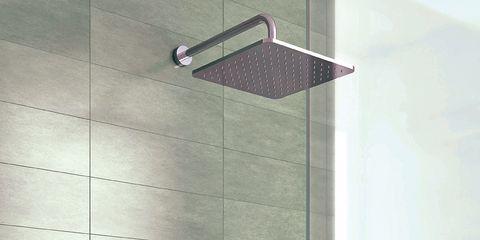 Wall, Street light, Light fixture, Material property, Rectangle, Interior design, Design, Tile, Shower head, Aluminium,