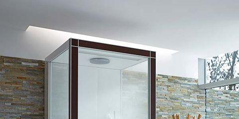 Glass, Wall, Interior design, Fixture, Transparent material, Transparency, Outdoor furniture, Aluminium, Display case,