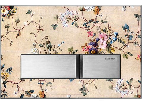 Rectangle, Interior design, Wallpaper, Plant, Flower,