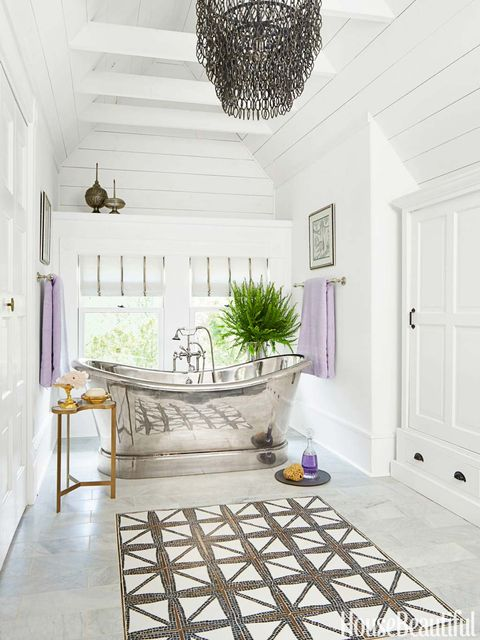 White, Floor, Room, Interior design, Property, Furniture, Ceiling, Purple, Wall, Tile,