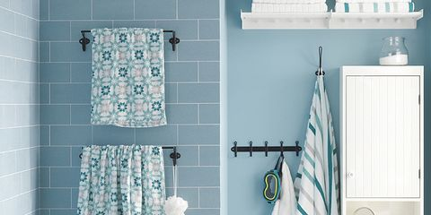 Blue, Green, Room, Product, Interior design, Property, Wall, rubber ducky, White, Aqua,