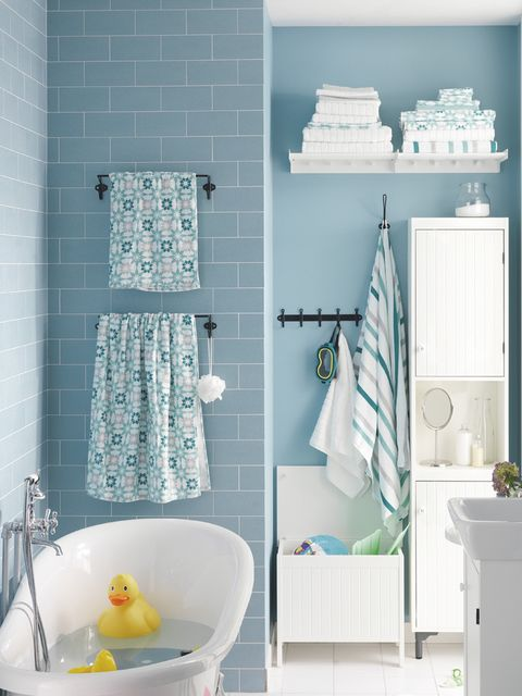 Blue, Green, Product, Room, Plumbing fixture, Interior design, Wall, White, Aqua, Teal,