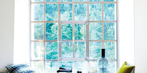 Wood, Blue, Window, Room, Interior design, Bottle, Glass, Home, Wall, Teal,