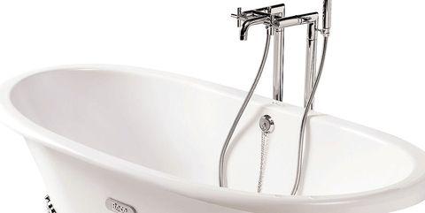 Bathtub, Bathroom sink, Plumbing fixture, Product, Bathroom, Sink, Font, Bathing, Plumbing, Tap,