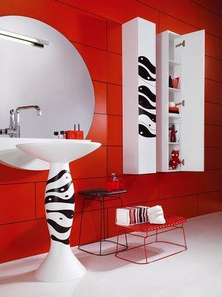 Inspiración Baños En Rojo