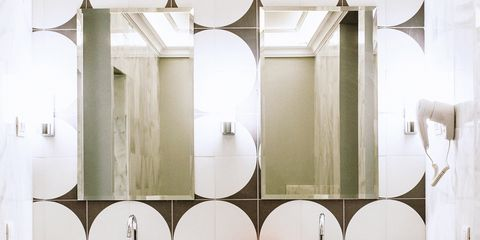Plumbing fixture, Bathroom sink, Architecture, Room, Property, Interior design, Wall, Sink, Bathroom accessory, Fixture,