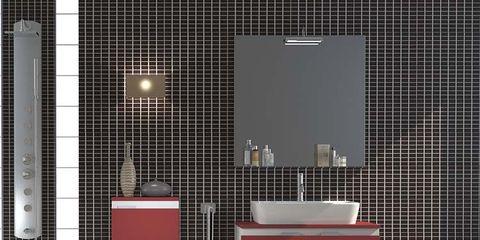 Property, Floor, Wall, Tile, Flooring, Line, Interior design, Fixture, Plumbing fixture, Rectangle,
