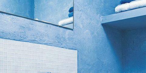 Blue, Plumbing fixture, Property, Bathroom sink, Room, Wall, Ceramic, Tile, Sink, Purple,