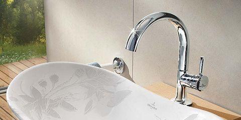 Plumbing fixture, Architecture, Property, Tap, Wall, Sink, Bathroom accessory, Bathroom sink, Plumbing, Hardwood,
