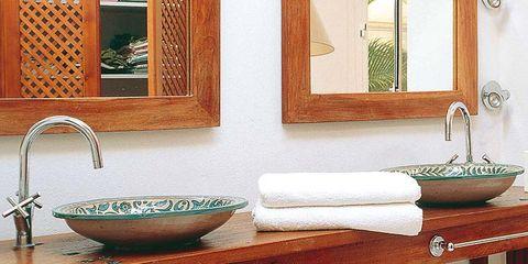 Plumbing fixture, Room, Green, Interior design, Architecture, Property, Tap, Wall, Bathroom sink, Interior design,