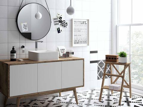 Room, Flowerpot, Interior design, Table, Wall, Grey, Interior design, Light fixture, Houseplant, Desk,