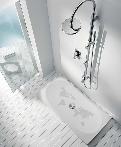 Plumbing fixture, Wall, Room, Toilet, Fixture, Bathroom accessory, Household hardware, Bathroom, Plumbing, Composite material,