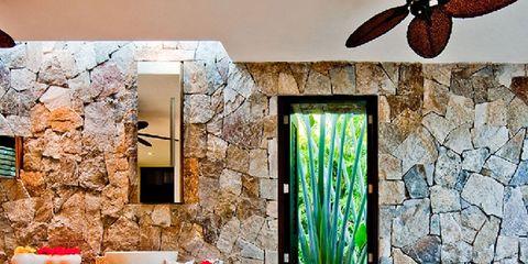 Lighting, Interior design, Room, Wall, Glass, Fixture, Interior design, Plumbing fixture, Tile, Countertop,