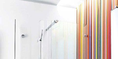 Product, Wall, Plumbing fixture, Glass, Shower head, Fixture, Shower panel, Plumbing, Household supply, Shower bar,