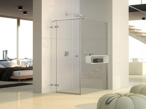 Floor, Architecture, Room, Interior design, Glass, Wall, Bed, Flooring, Fixture, Tile,