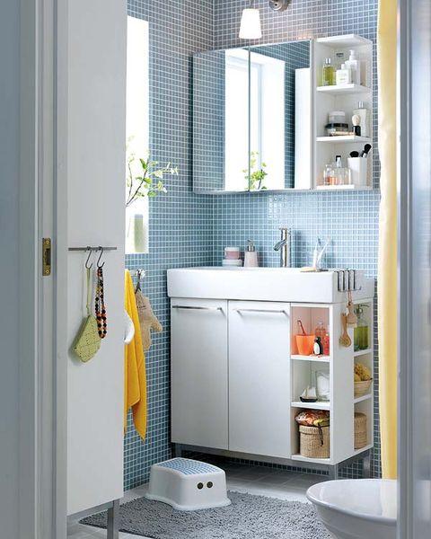 Muebles de lavabo e ideas para tener todo a mano - Armarios para banos ikea ...