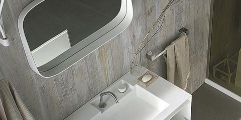 Plumbing fixture, White, Interior design, Sink, Tap, Grey, Bathroom sink, Plumbing, Bathroom accessory, Composite material,