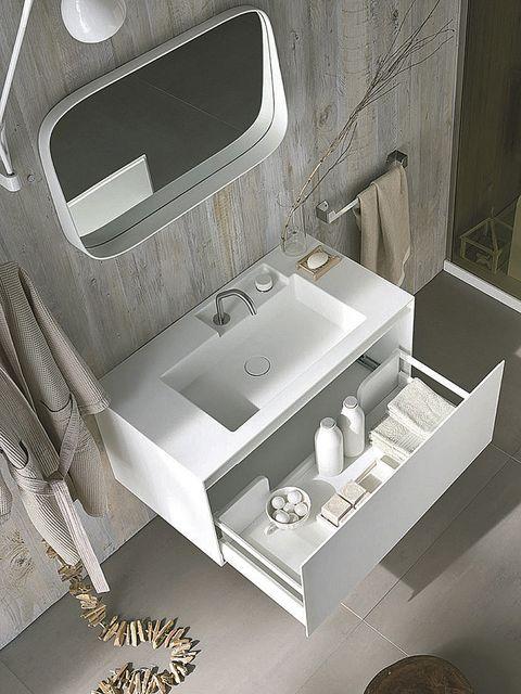 Plumbing fixture, Interior design, Sink, Bathroom sink, Grey, Bathroom accessory, Plumbing, Composite material, Tap, Bathroom,