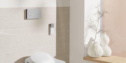 Property, Architecture, Wall, Floor, Flooring, Interior design, Plumbing fixture, Fixture, Grey, Tile,