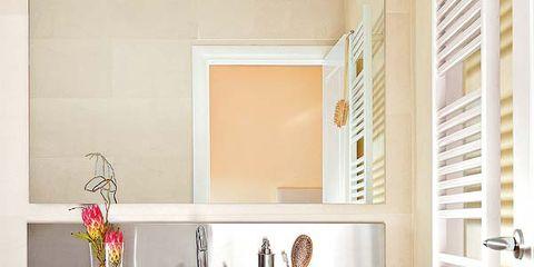 Room, Interior design, Wall, Plumbing fixture, Interior design, Fixture, Porcelain, Shelving, Door, Ceramic,
