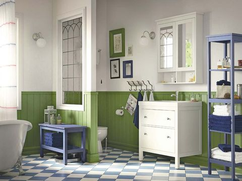 Room, Green, Floor, Interior design, Flooring, Drawer, Home, Wall, Cabinetry, Chest of drawers,