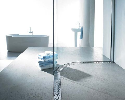 Floor, Bathroom sink, Plumbing fixture, Wall, Flooring, Glass, Fixture, Sink, Tap, Plumbing,