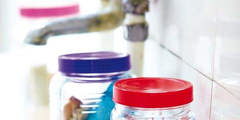 Food storage containers, Mason jar, Ingredient, Food storage, Lid, Home accessories, Plastic, Cookie jar, Transparent material, Chemical compound,