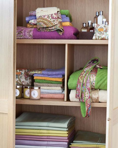 Room, Textile, Linens, Purple, Teal, Violet, Shelving, Magenta, Bedroom, Collection,