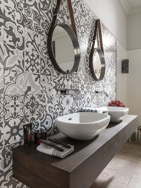 Room, Interior design, Wall, Porcelain, Interior design, Floor, Ceramic, Plumbing fixture, Dishware, Flooring,