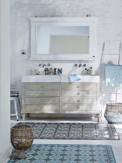 Como Decorar El Bano En Blanco Y Con Encanto - Decoracion-muebles-blanco